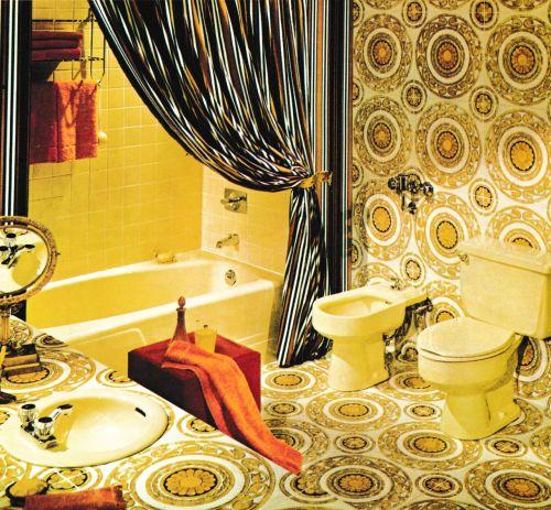 S Decor Mid Century Bathroom Retro Room Vintage Bathrooms Vintage Interiors Interior Ideas Kitsch Home Decor Ideas S Decor