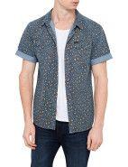 Lee Old Cat Sawtooth Short Sleeve Shirt $99.95  #fashion #style #blue #trend #shop #menswear #lee