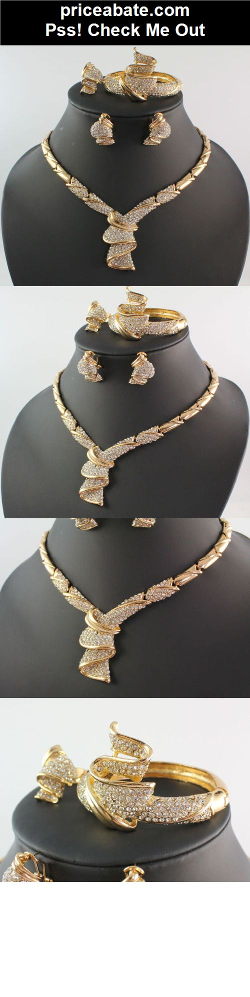 Fashion Women 18K Gold Plated Africa Dubai Wedding Party Necklace Jewelry Set - #priceabate! BUY IT NOW ONLY $13.04