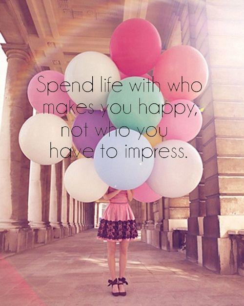 良いところを見せなきゃいけない人とではなく、一緒にいて幸せと思える人と生きよう。
