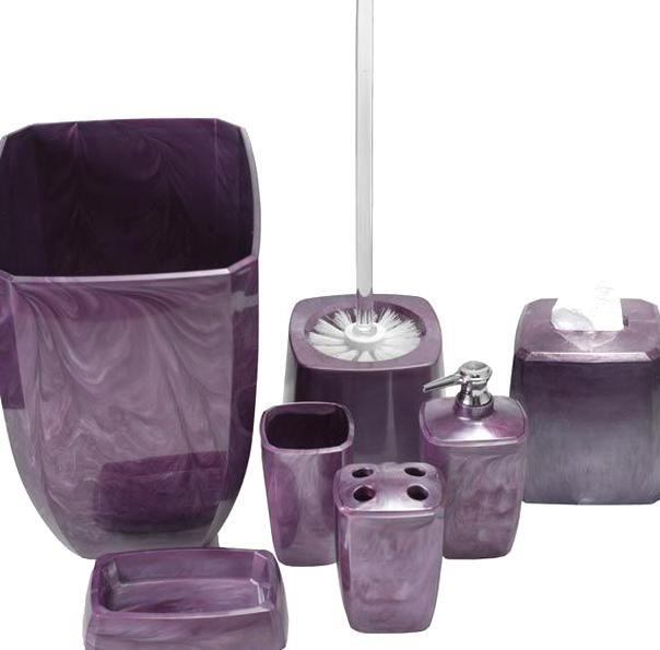 Purplebathroomaccessories Purple Bathroom Accessories Sets In 2020 Purple Bathrooms Purple Bathroom Accessories Gray Bathroom Decor