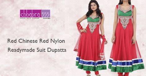 Get Red Chinese Red Nylon Readymade Suit Dupatta from Chhabra555 @ $253.95 AUD in Australia and get free shipping for orders of $75 and more.