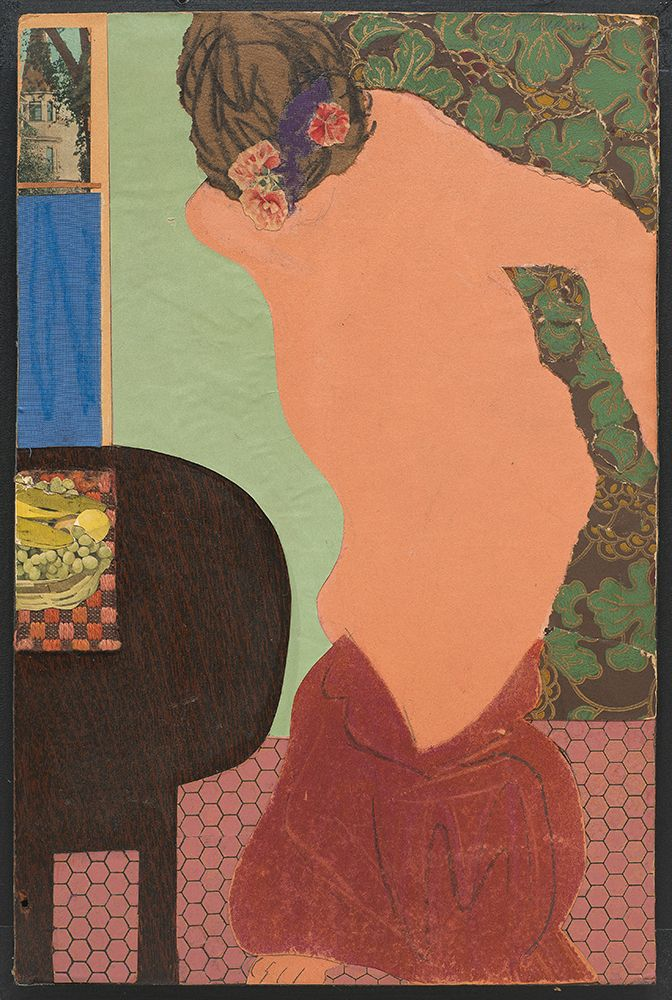 """topcat77: """" Tom Wesselmann Judy Undressing, 1960 Pencil, pastel, and collage on board """""""