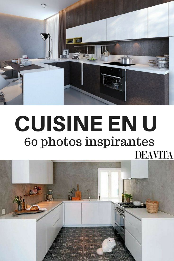 les 25 meilleures id es de la cat gorie cuisine en u sur pinterest u cuisine de forme petites. Black Bedroom Furniture Sets. Home Design Ideas