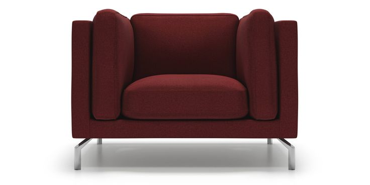 Malmo Chair in Red Merlot Fabric by Kavuus.com - (Made in Canada)
