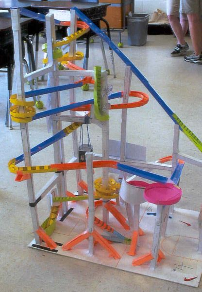 Marble Coster Wheels : Paper roller coasters gallery grade science