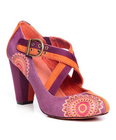 Another great find on #zulily! Naranja Floral Medallion Crisscross Pump by Desigual #zulilyfinds