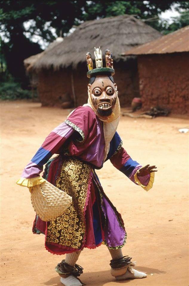 Yoruba Masked Ritual Dancer, Nigeria