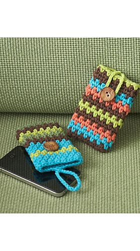 Ravelry: Mobile Phone Covers pattern by Lily / Sugar'n Cream