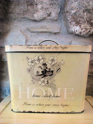 Bread Box :) Every household had one.. Now it's vintage chic-