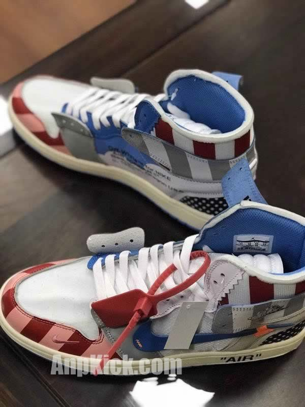 341065222507 parra off white air jordan 1 customize shoes custom made jordans (4) -  AnpKick