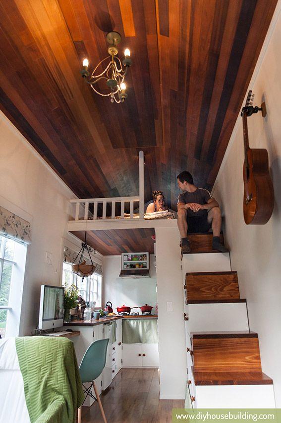 tiny trailer house sleeping loft