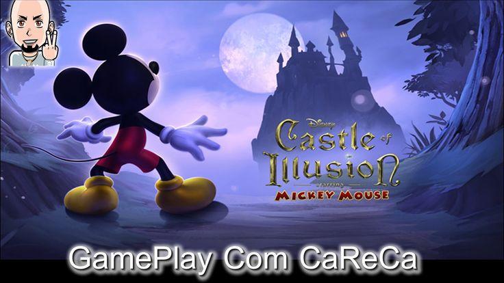 GamePlay com o CaReCa RETRO - Mickey Castle of Illusion (Mega Drive)