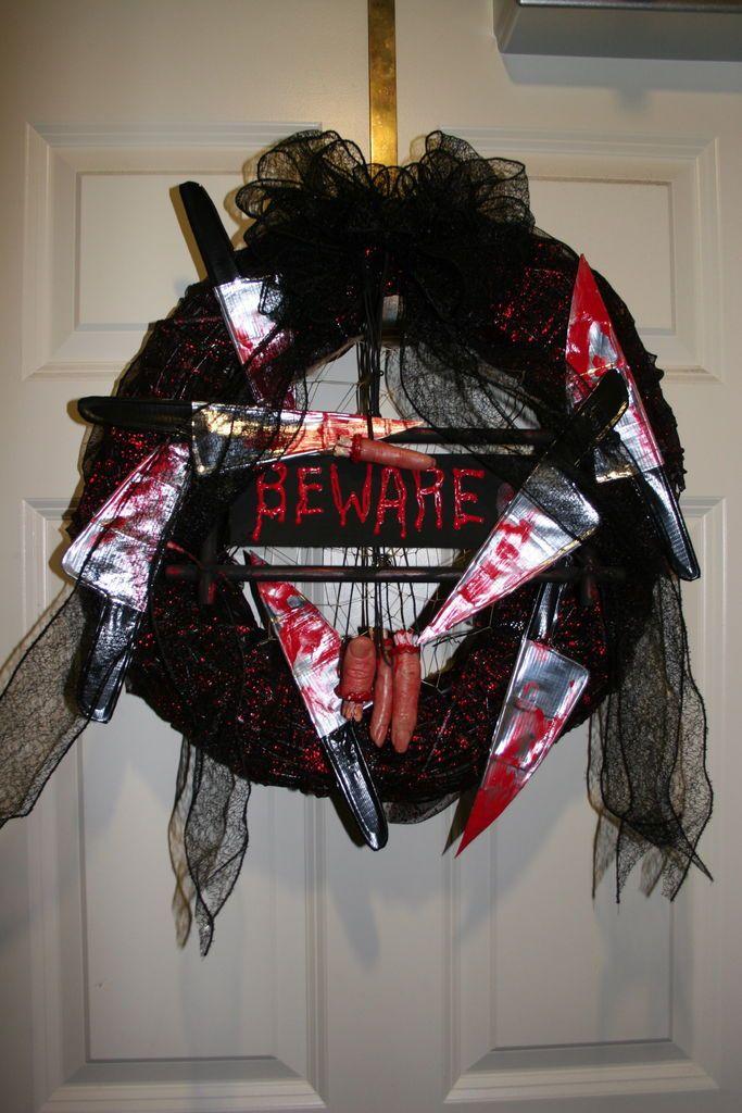 gena rumples halloween horror wreath tutorial