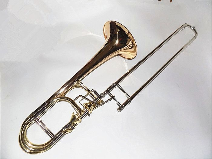 1138.00$  Watch here - http://alit9i.worldwells.pw/go.php?t=1881997765 - Bb/F/Eb/D Double Thayer Valves Trombone Brass Material with Case and mouthpiece Musical instruments Shipping time 8-15 days 1138.00$