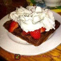 Chocoladewafels (met aardbeien)