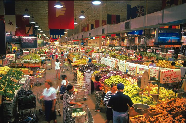 Your Dekalb Farmers Market, located in the Decatur/DeKalb County area on the east side of Atlanta, Georgia. The Dekalb Farmers Market began on June 2, 1977 as a small 7,500 sq. ft. produce stand in Decatur, Georgia. Since that humble beginning, it has grown into a 140,000 sq. ft. true world market serving up to 100,000 people per week.