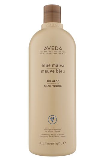 Aveda Blue Malva. Leaves blonde hair bright, cool, & toned. Use with Blue Malva Conditioner for soft, shiny blonde locks!