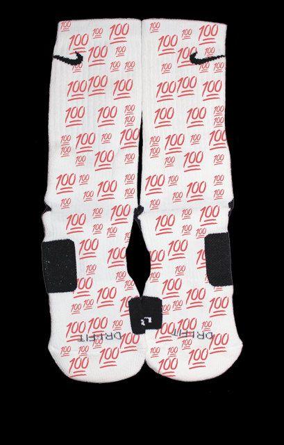 100 emoji custom nike elite socks by eliteheadquarters on