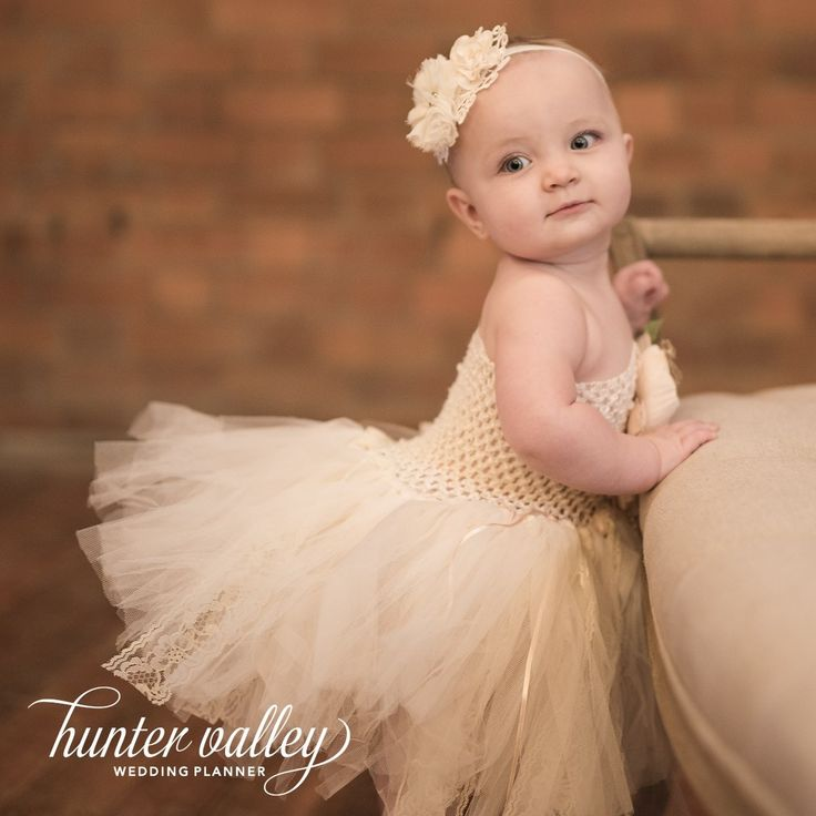 Flower girl baby tutu. In this years HUNTER VALLEY WEDDING PLANNER | magazine...our baby girl Mollie