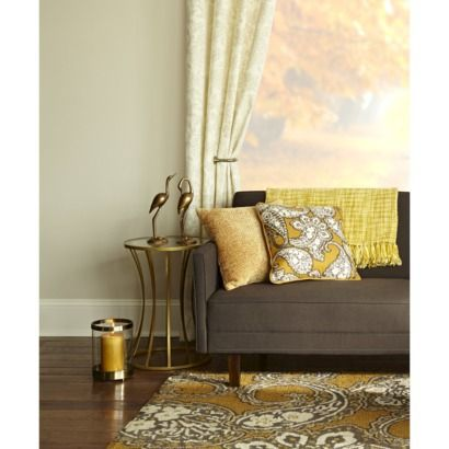 Target Threshold Yellow Accents And Living Room Curtains On Pinterest
