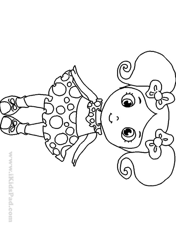 Free printable dolls coloring book for kids Coloring