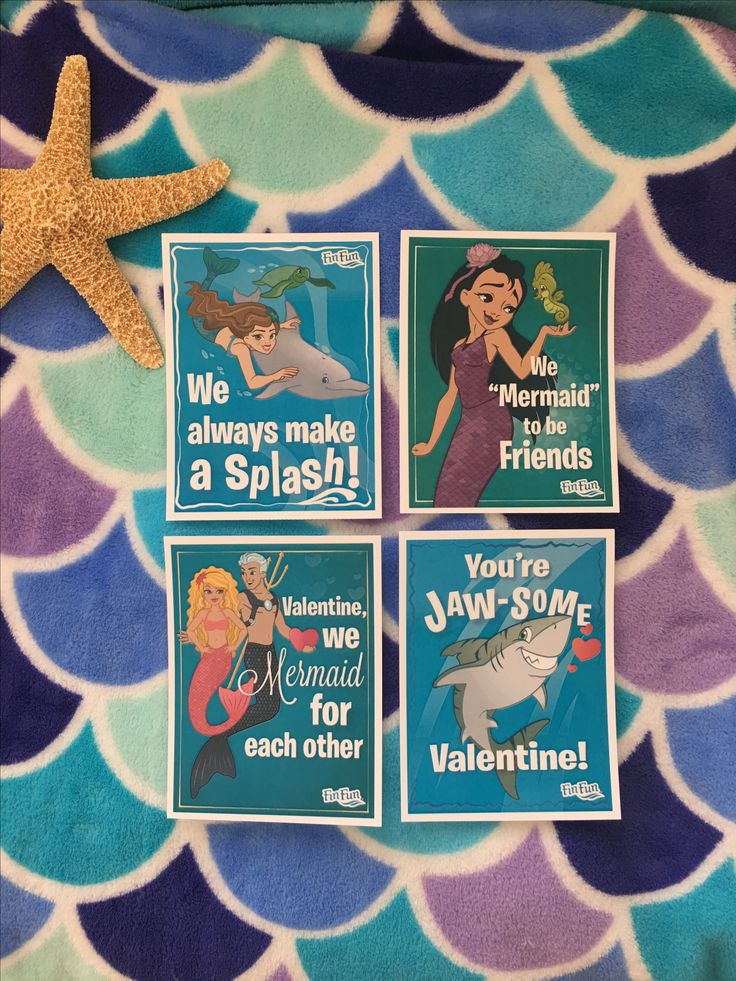 Check FinFriends.com for more FREE printable valentines for your best mermaids and mermen!