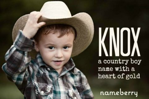 Country Boy Names Knox