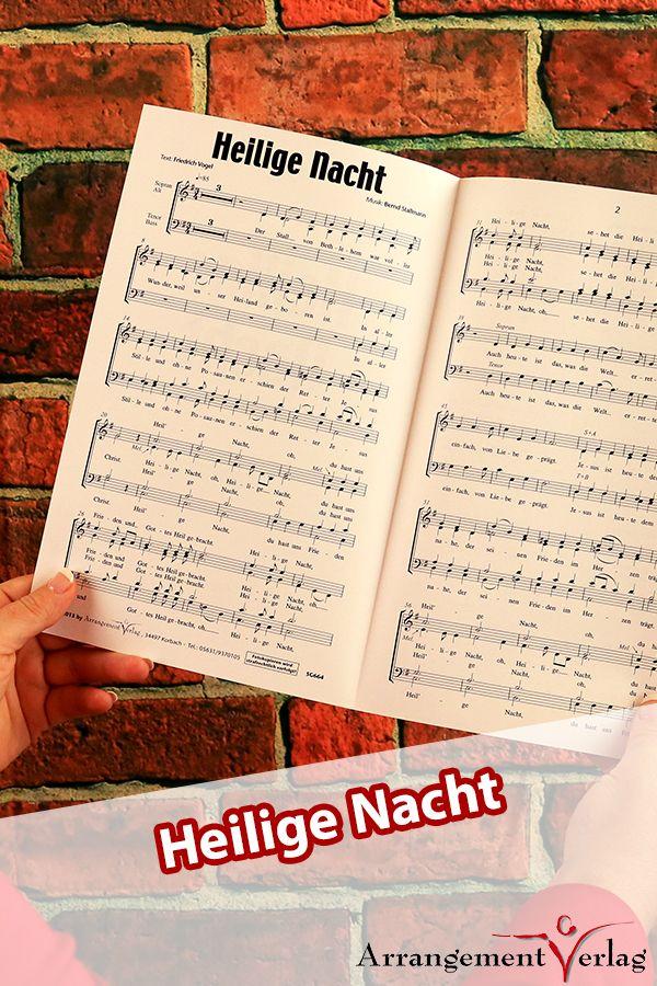 Heilige Nacht für Männerchor ✓ Neues Weihnachtslied nach einem Text ...
