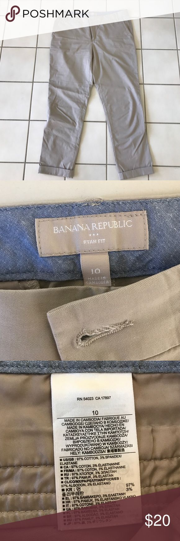 Banana Republic Ryan Fit Rolled Pant Lightly worn kaki capri from Banana Republic Banana Republic Pants Capris