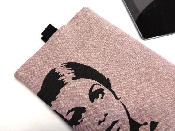 Twiggy ipad or Tablet Slipcover/Sleeve fully Padded. Retro stencil design. by QuiltyCo, $25.00