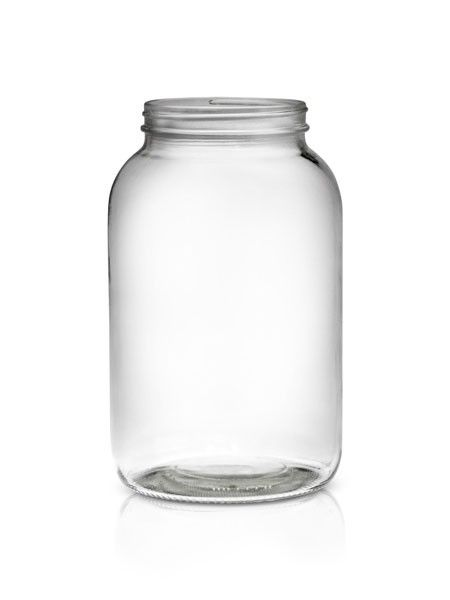 1 Gallon (128 oz) Glass Economy Round Jar 110/400 pk4