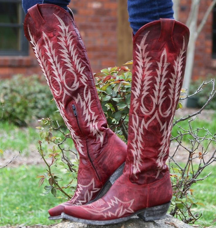 Rivertrail Mercantile - Old Gringo Mayra Red Boots L1213-1, $500.00 (http://www.rivertrailmercantile.com/old-gringo-mayra-red-boots-l1213-1/?page_context=category