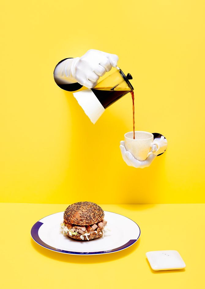 Burger & coffee // Rare Medium 4 by Sonia Rentsch