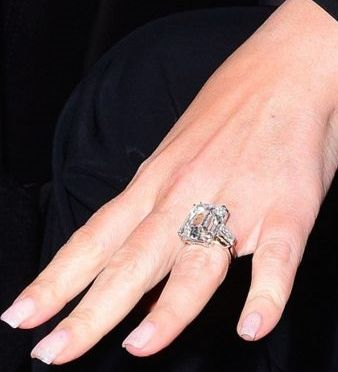 Mariah Carey's Massive 35-carat Engagement Ring: (http://www.racked.com/2016/1/22/10814388/mariah-carey-engagement-ring)