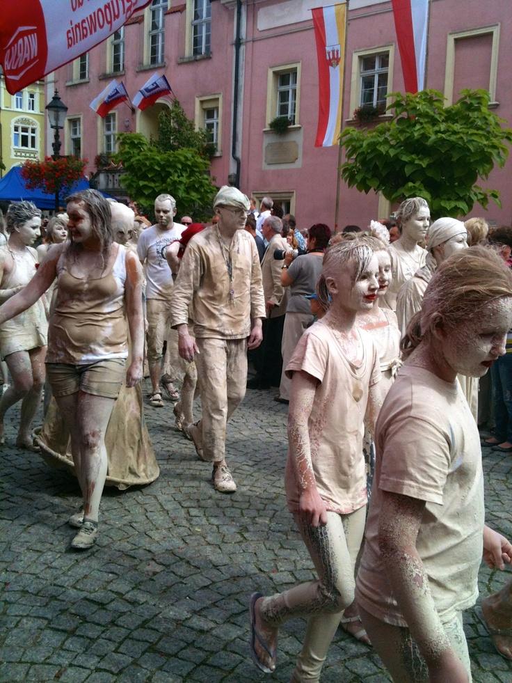 Pottery Parade in Boleslawiec Poland