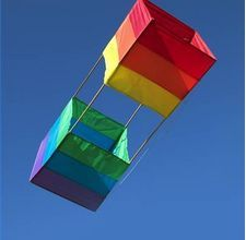 Instructions for making a box kite.