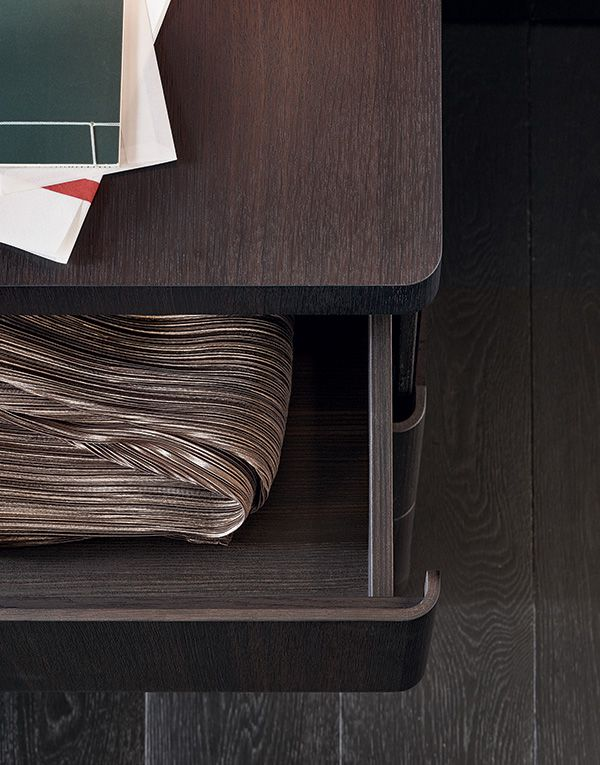 Drawer detail with distinguished rounded edges.
