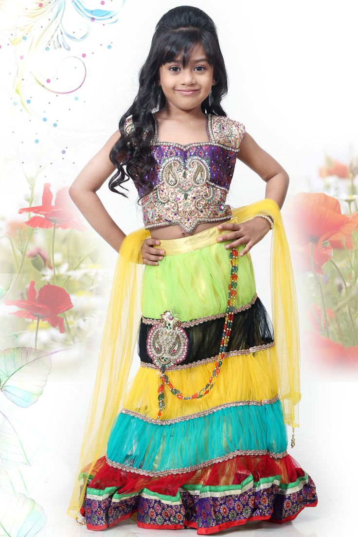 Multi Colour Net Embroidered Bridal and Wedding Lehenga Choli Sku Code:343-3684KLL529200 Price: $ 57.00