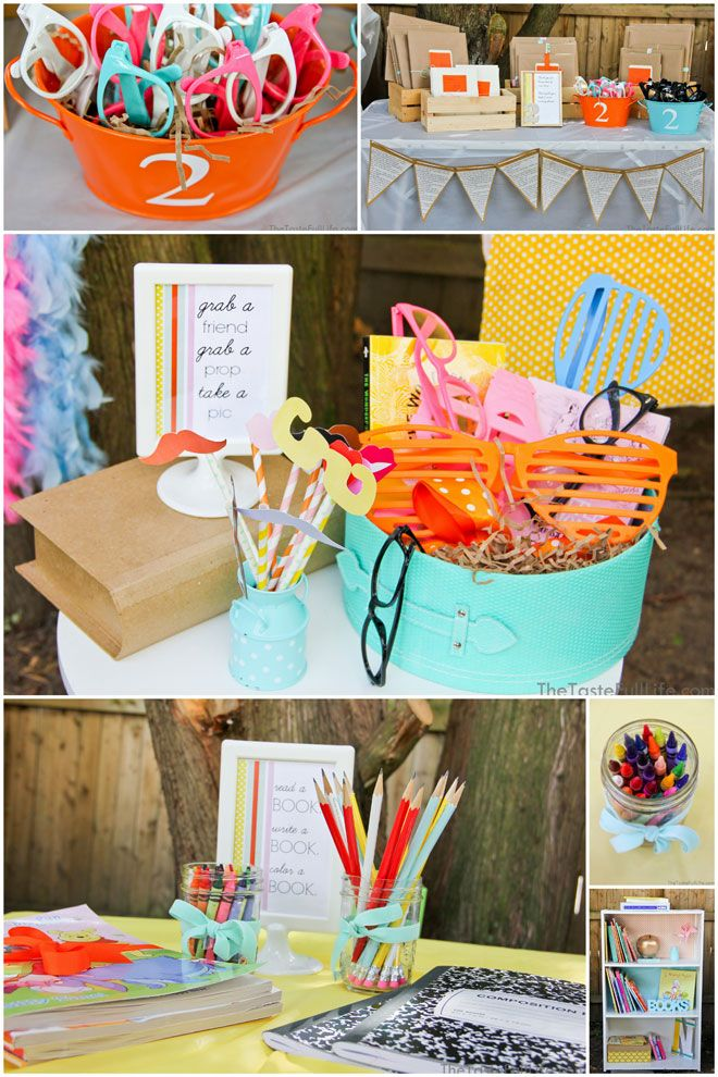"Adorable ""Chapter 2″ Book Themed Birthday Party! on http://pizzazzerie.com"
