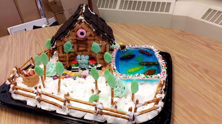 Gingerbread log house
