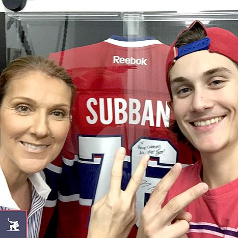 Celine Dion's Son Rene Charles Angelil Is All Grown Up at 14 Celine Dion and her 14-year-old son, Rene Charles Angelil, supported Canadian hockey player P.K. Subban. Credit: Courtesy of P.K. Subban/Instagram