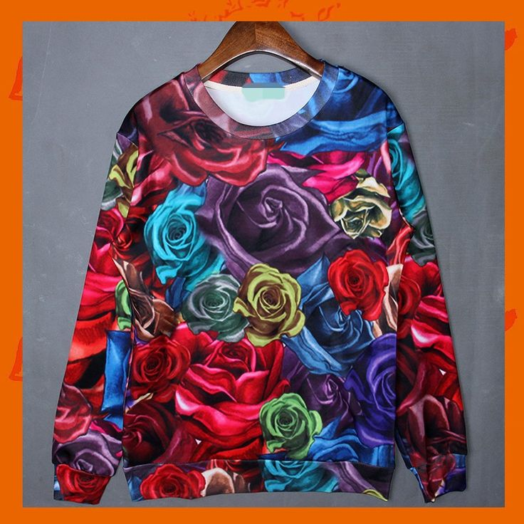 Multicolour Roses Hoodie Material: Polyester / Cotton Feature: Anti-Pilling, Anti-Shrink, Anti-Wrinkle, Breathable, Eco-Friendly, Plus Size, Quick Dry, Windproof Size: S/M/L