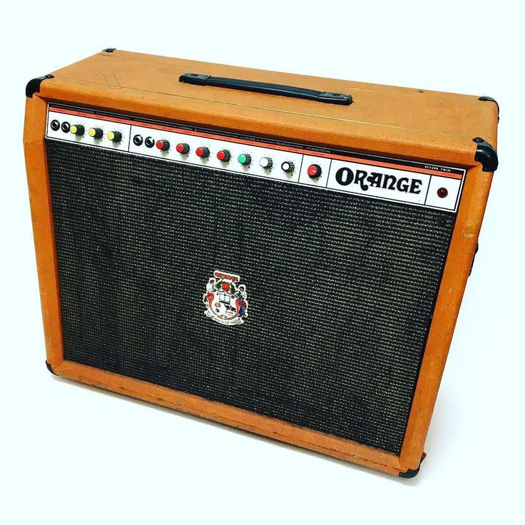 1975 Orange 'Hustler' 50W Reverb Twin amplifier. Orange's juicy answer to the Fender Twin Reverb it features identical controls but with a British flavoured power section.  Loaded with the original Orange branded Celestion creamback ceramic speakers. #orangeamps