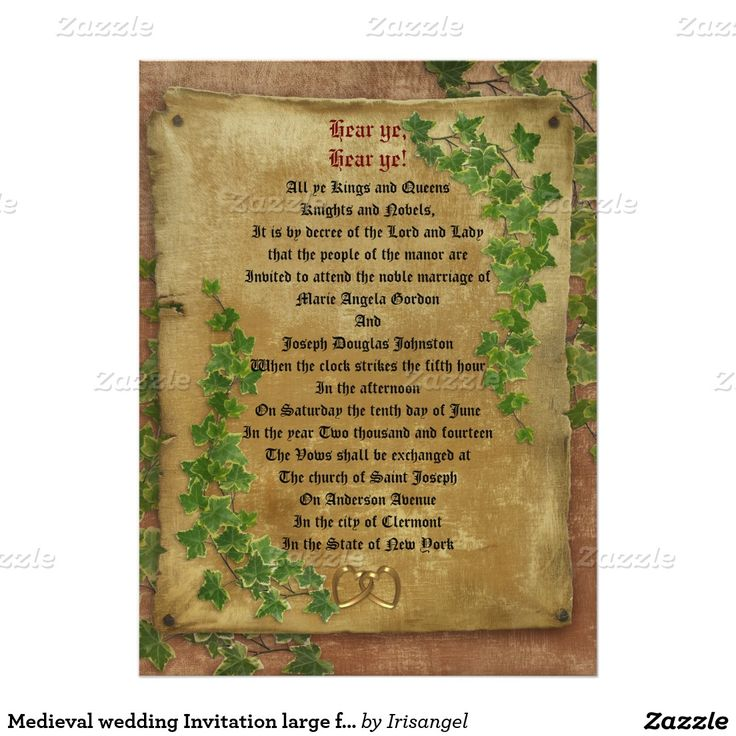 wedding renewal invitation ideas%0A Medieval wedding Invitation large format       X        Invitation Card