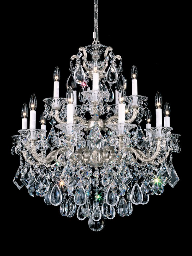 Features: -La Scala collection. -Number of lights: 15. -Finish: Royal pewter…