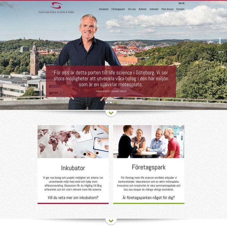 web design for Sahlgrenska Science Park - made by mkmedia - Gothenburg Sweden. mkmedia.se