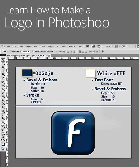 how to make a monogram logo in adobe photoshop
