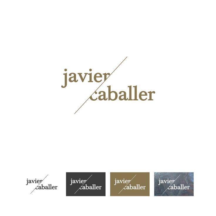 Identidad Corporativa - Logotipo - para Javier Caballer - Artista - Pintor de cuadros al óleo - Gijón - España