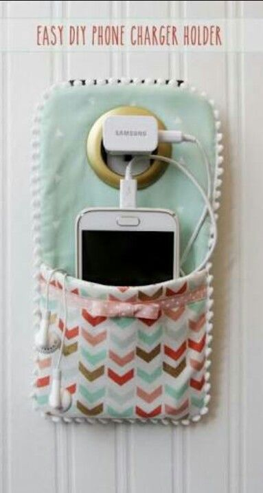 Diy Phone Charger Holder Arts Crafts Crafts Cool Diy Projects